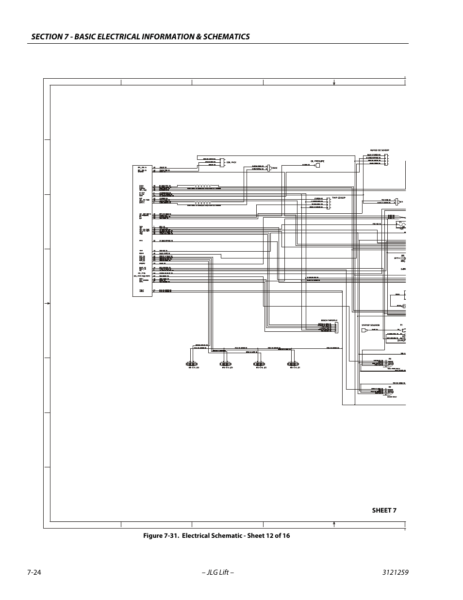 medium resolution of electrical schematic sheet 12 of 16 24 gm engine harness jlgelectrical schematic sheet 12 of
