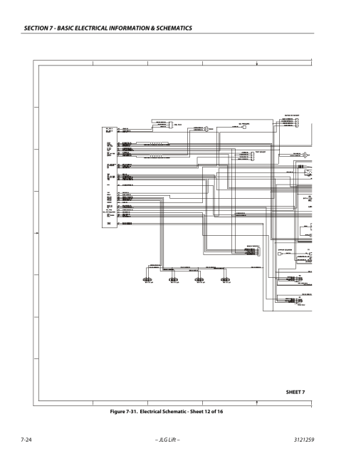 small resolution of electrical schematic sheet 12 of 16 24 gm engine harness jlgelectrical schematic sheet 12 of