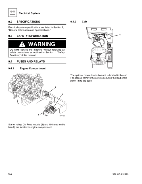 small resolution of 2 specifications 3 safety information 4 fuses and relays jlg g12 55a service manual user manual page 146 176