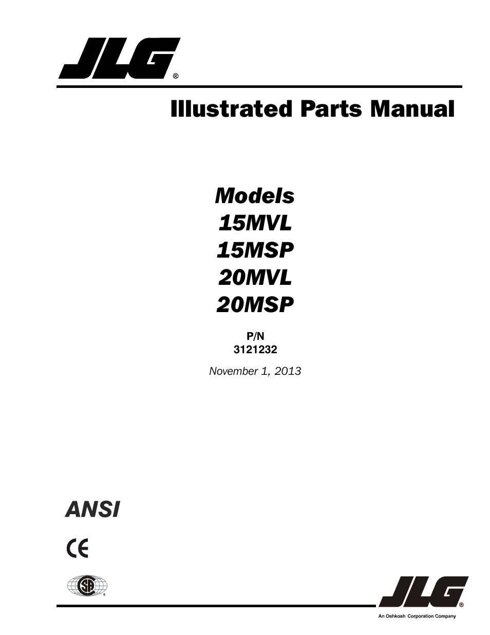 110 Schematic Wiring Jlg 15 20msp Parts Manual User Manual 140 Pages Also
