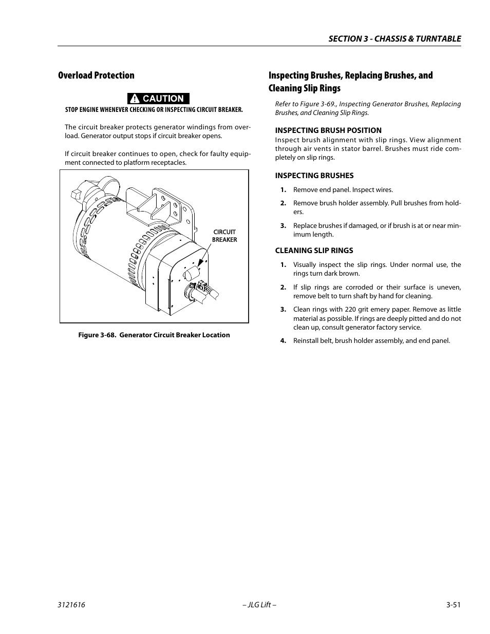 medium resolution of overload protection generator circuit breaker location 51 jlg 660aj service manual user manual page 95 334