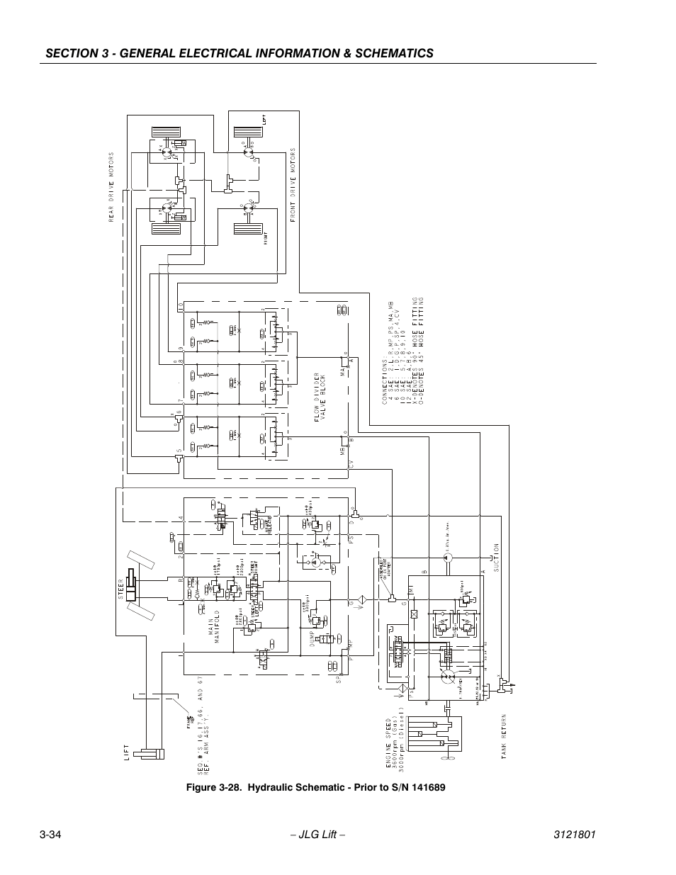 hight resolution of hydraulic schematic prior to s n 141689 34 jlg 260mrt service manual