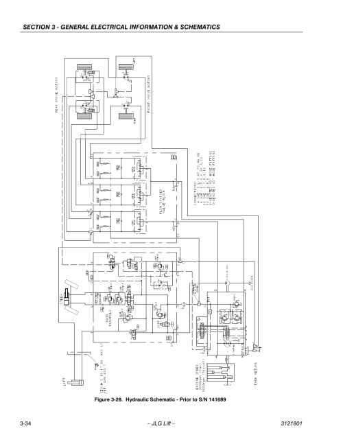 small resolution of hydraulic schematic prior to s n 141689 34 jlg 260mrt service manual