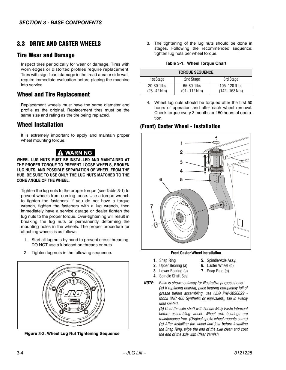 medium resolution of 3 drive and caster wheels tire wear and damage wheel and tire replacement