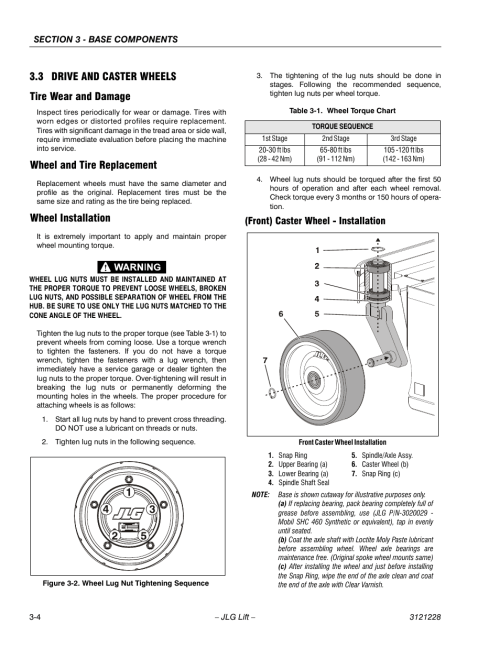 small resolution of 3 drive and caster wheels tire wear and damage wheel and tire replacement