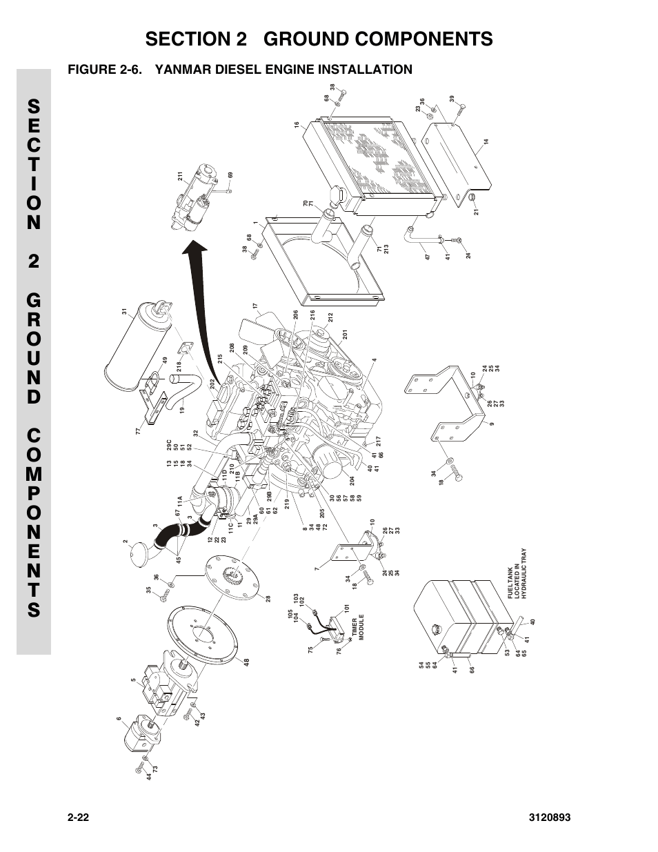 Figure 2-6. yanmar diesel engine installation, Yanmar