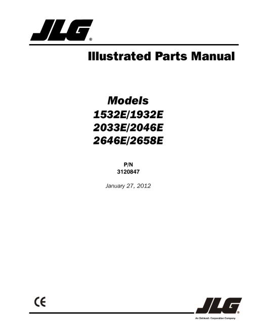 small resolution of jlg 2658e parts manual user manual 244 pages also for 2646e parts manual