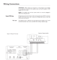 wiring connections input wiring page 6 of 12 bogen tpu250 userwiring connections input [ 954 x 1235 Pixel ]