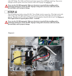 step 11 step 12 aladdin light lift all300 cm two circuit fixtures only user manual page 7 13 [ 954 x 1235 Pixel ]