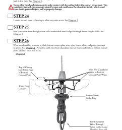 step 23 step 24 step 25 aladdin light lift all700 cm 240v user manual page 10 13 [ 954 x 1235 Pixel ]
