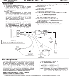 auto meter air fuel gauge wiring diagram wiring libraryauto meter 7570 user manual 2 pages also [ 954 x 1235 Pixel ]