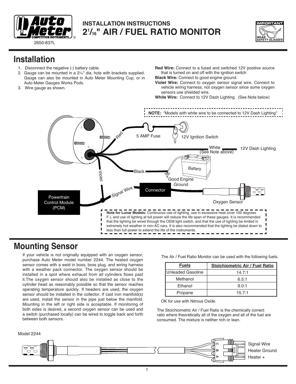 medium resolution of auto meter fuel wiring diagram