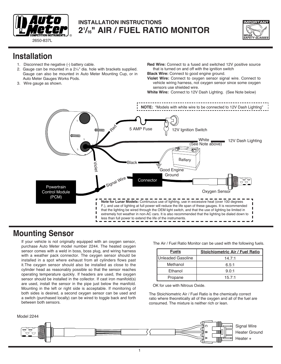 hight resolution of auto meter fuel wiring diagram