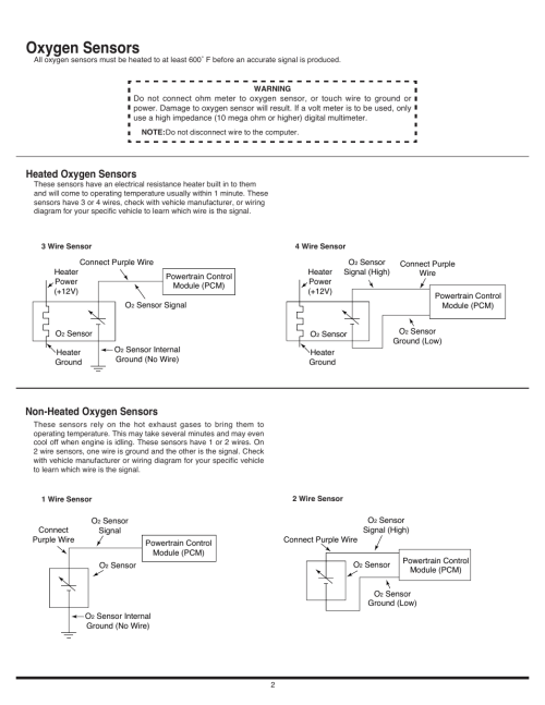 small resolution of oxygen sensors non heated oxygen sensors heated oxygen sensors auto meter 4375 user manual page 2 4