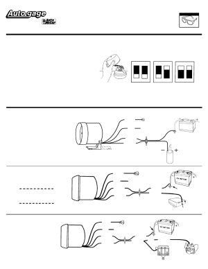 Auto Meter 2304 User Manual   2 pages   Also for: 2301