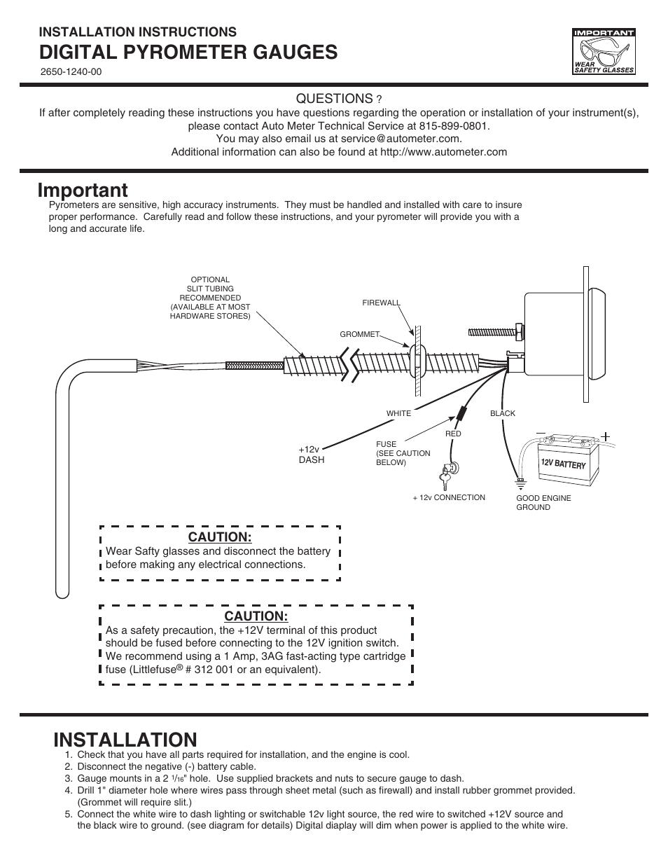 hight resolution of autometer amp wiring diagram
