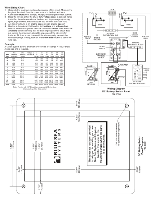 small resolution of blue sea systems 8080 dual battery bank management panel user manual page 2 2