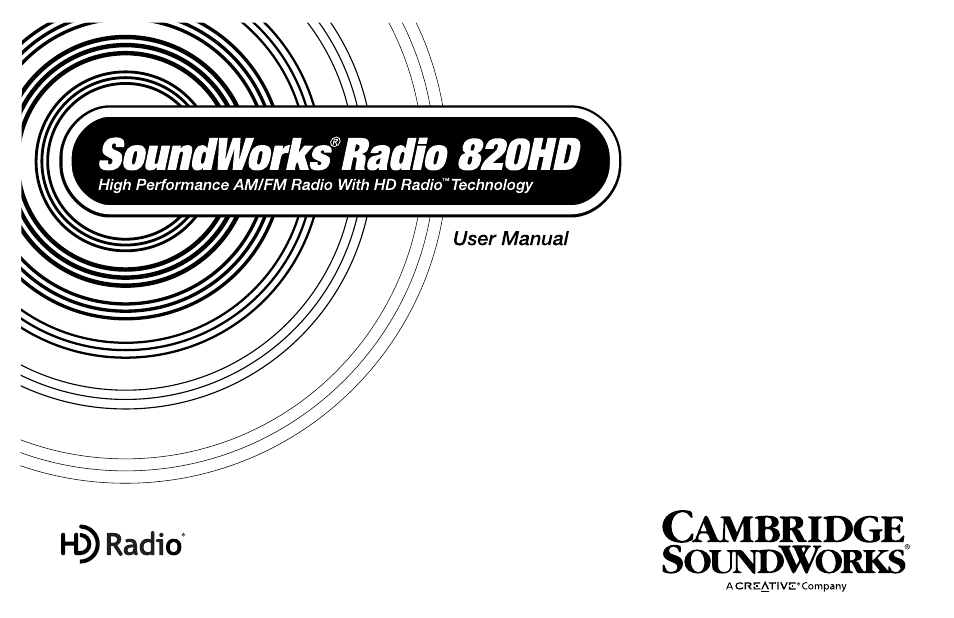 Cambridge SoundWorks SoundWorks Radio 820HD User Manual