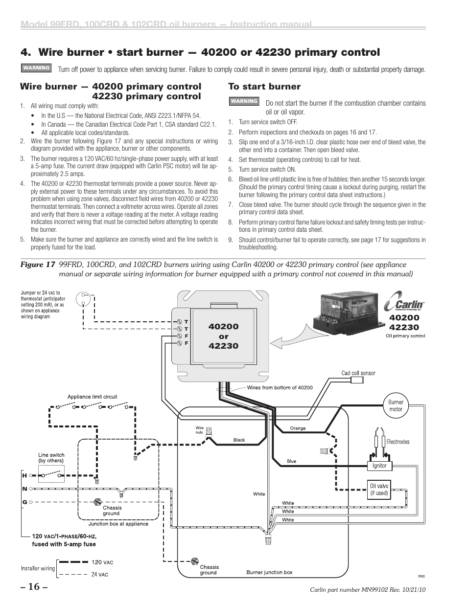 5 wire thermostat wiring diagram 2002 jetta carlin 102crd-99frd-100crd user manual | page 16 / 28