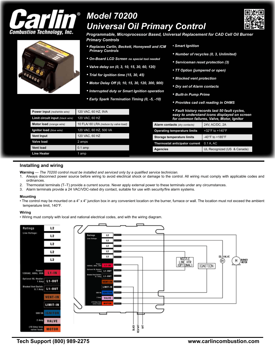 wiring diagram junction box mtd carlin 70200 user manual | 4 pages