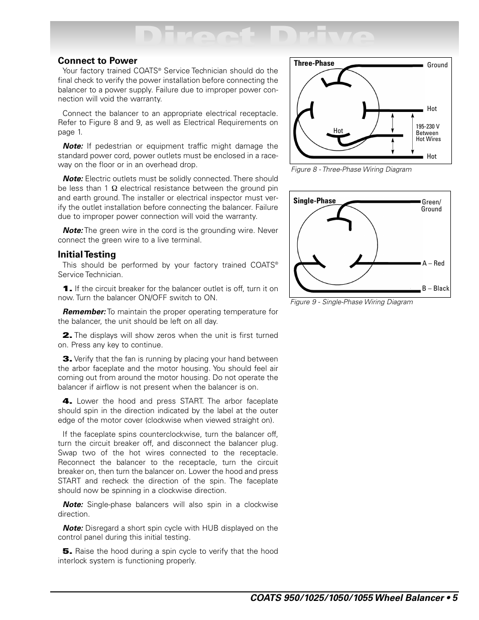 medium resolution of direct drive coats 1055 balancer user manual page 11 24