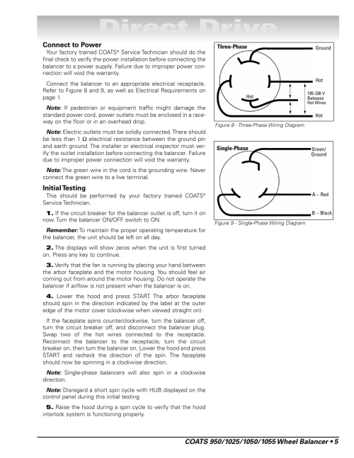 small resolution of direct drive coats 1055 balancer user manual page 11 24