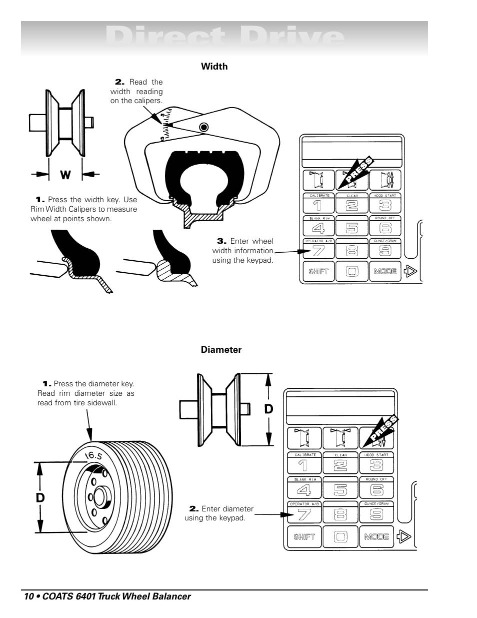 medium resolution of direct drive coats 6401 computer truck wheel balancer user manual page 16 24