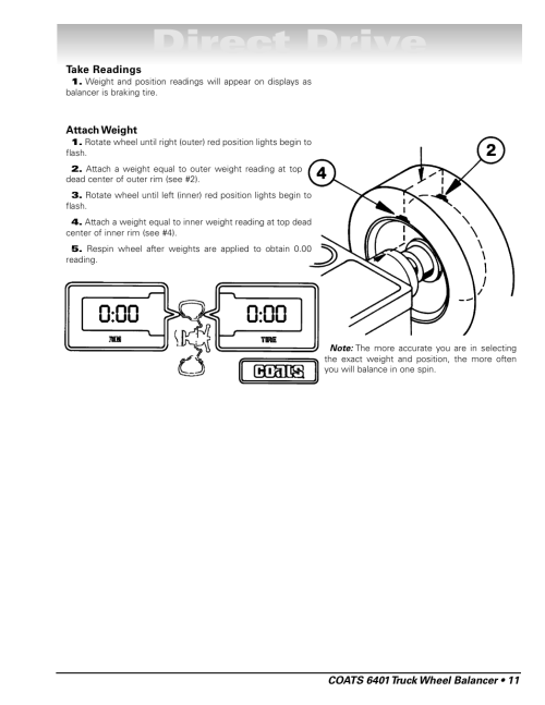 small resolution of direct drive coats 6401 computer truck wheel balancer user manual page 17 24