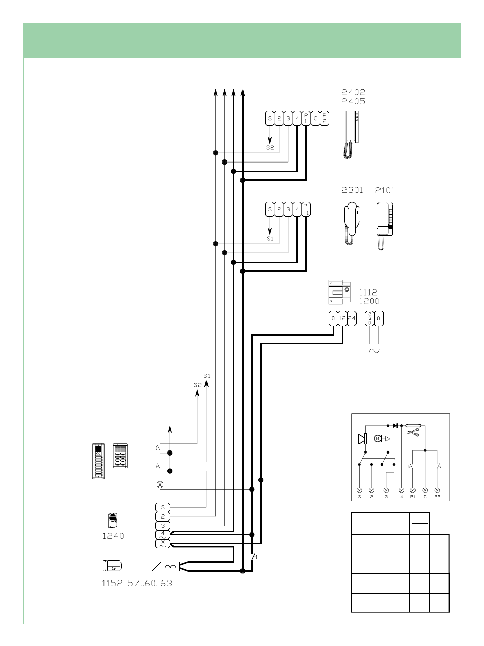 comelit wiring diagram parts of a lily intercom manual schematic usa corp cs5 01 ft 48 user