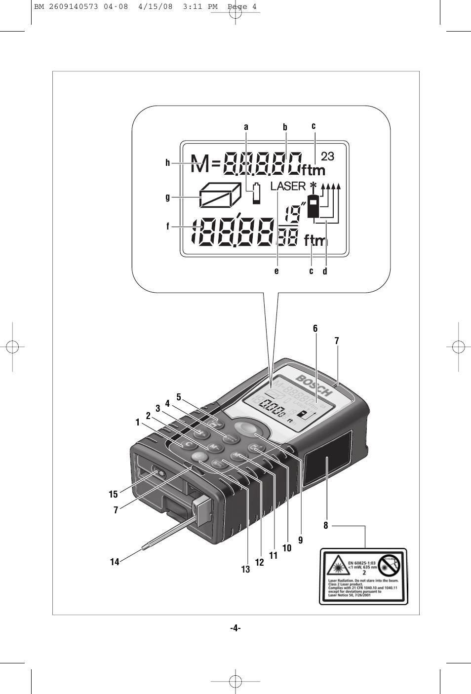 BOSCH DLR165 MANUAL PDF