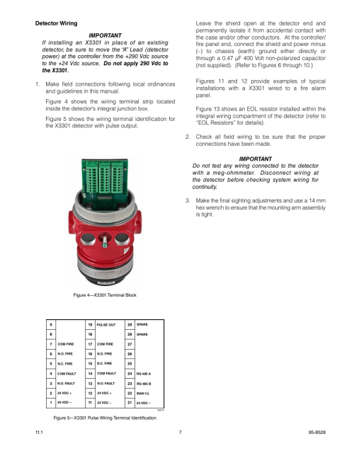 small resolution of det tronics x3301 multispectrum ir flame detector with pulse output user manual page 9 39
