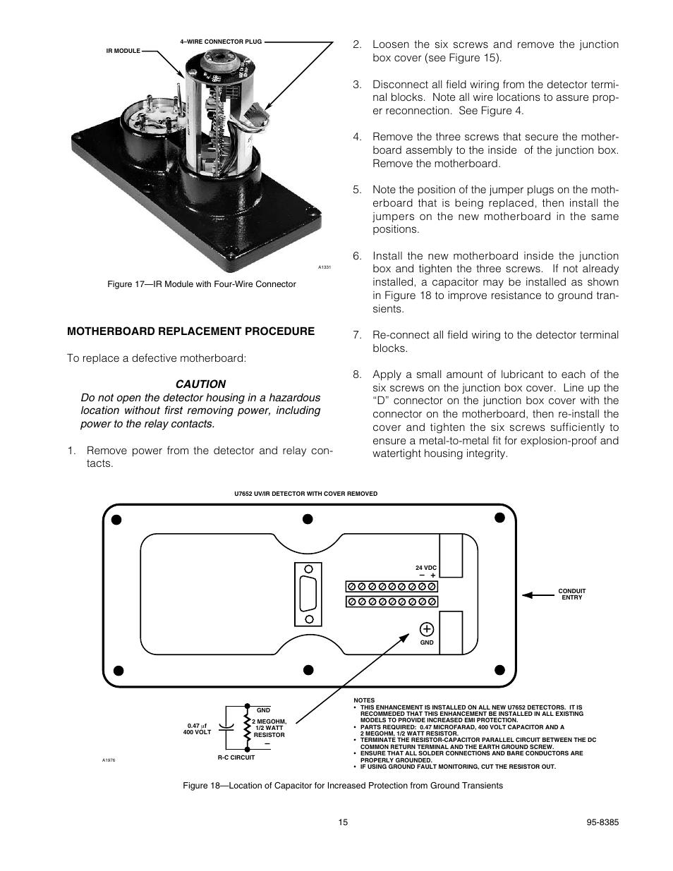 hight resolution of det tronics u7652b c unitized uv ir flame detector user manual page 17 22