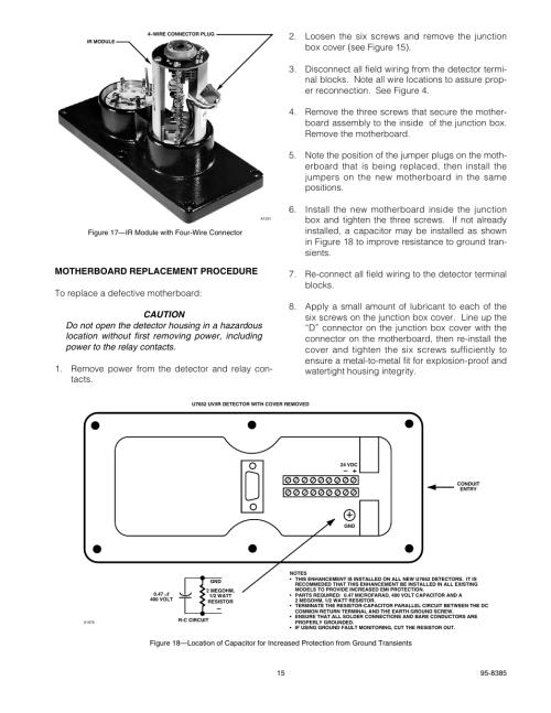 small resolution of det tronics u7652b c unitized uv ir flame detector user manual page 17 22