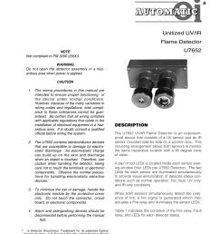 tronics instructions unitized uv ir flame detector u7652 det tronics u7652b c unitized uv ir flame detector user manual page 3 22 [ 954 x 1235 Pixel ]