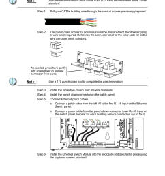 connect cat5e wiring n o t e etc unison ern wall mount control enclosure user manual page 41 44 [ 955 x 1272 Pixel ]