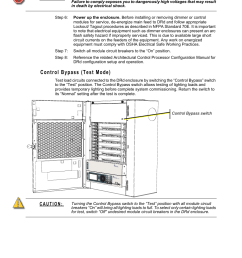 control bypass test mode etc unison drd dimming rack enclosure user manual page 58 68 [ 955 x 1272 Pixel ]