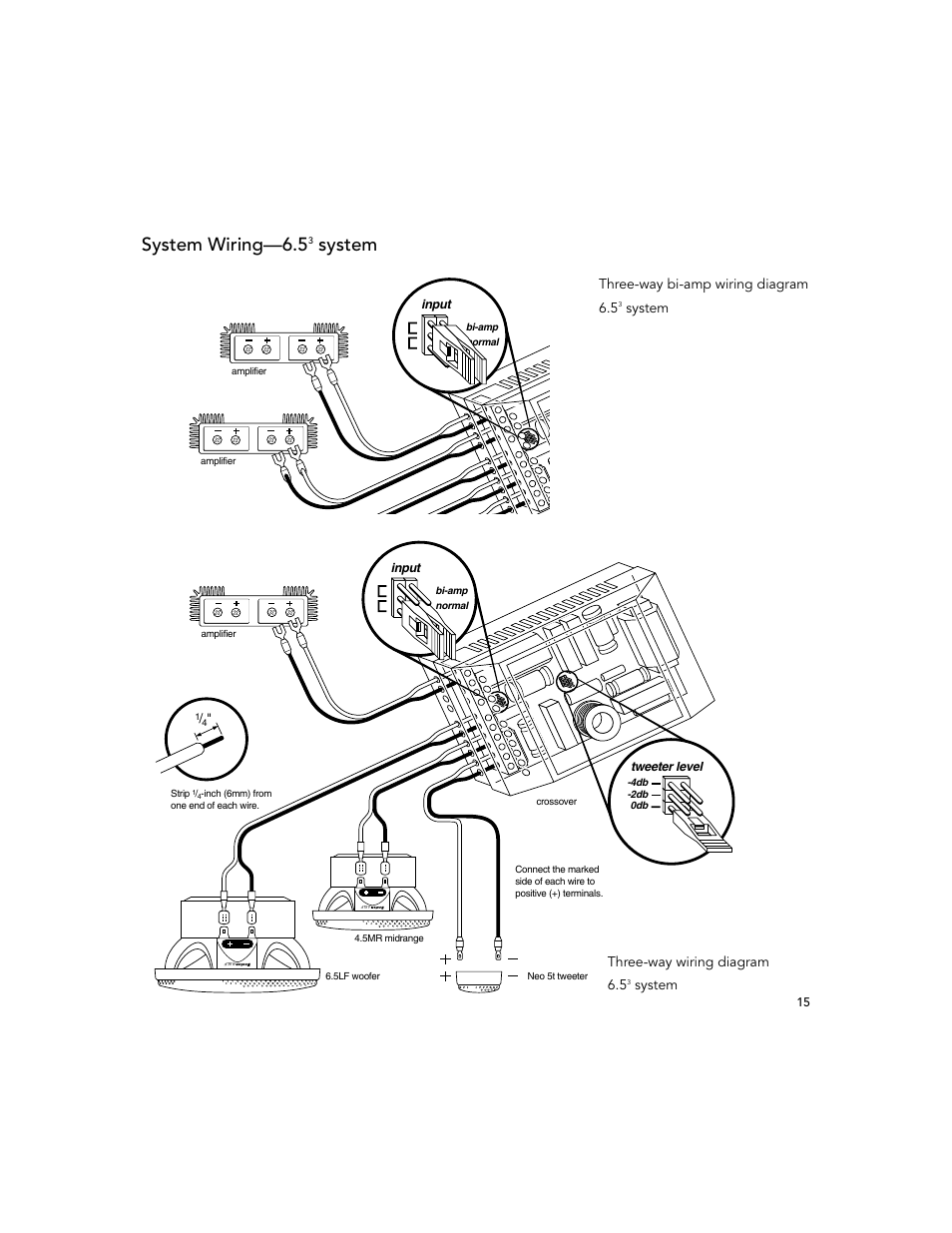 System wiring—6.5, Three-way wiring diagram 6.5, System
