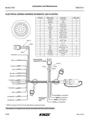 Electrical wiring harness schematic (on planter), Rev 10