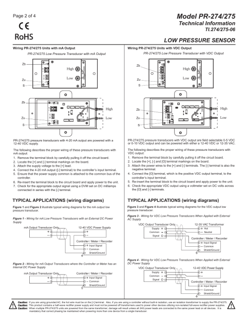 small resolution of ti 274 275 06 pg2 rohs technical information mamac systems pr 275 user manual page 2 4