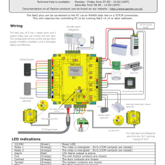 Rs485 Wiring Diagram Mtd 990 Paxton Net2 Plus Control Unit User Manual   8 Pages
