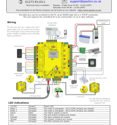 paxton net2 plus control unit user manual 8 pages [ 954 x 1350 Pixel ]