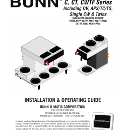 bunn cwtf user manual 17 pages also for ctbunn model bx wiring diagram 12 [ 954 x 1235 Pixel ]