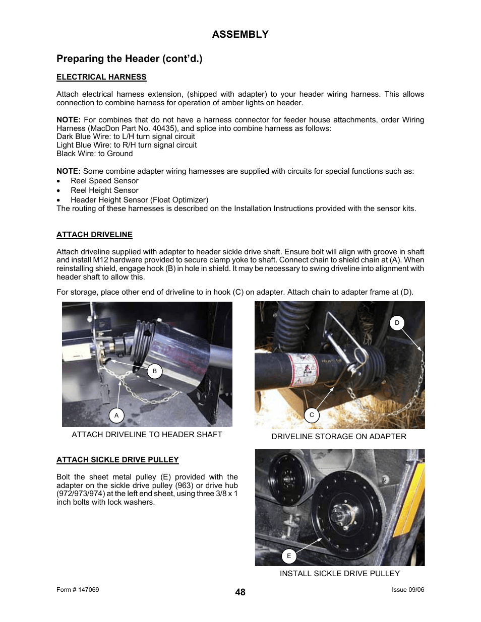 medium resolution of assembly preparing the header cont d macdon 873 combine adapter user manual page 50 91