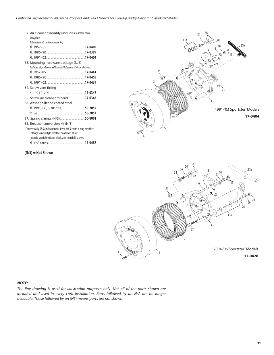 S&S Cycle Super E and G Series Shorty Carburetors User