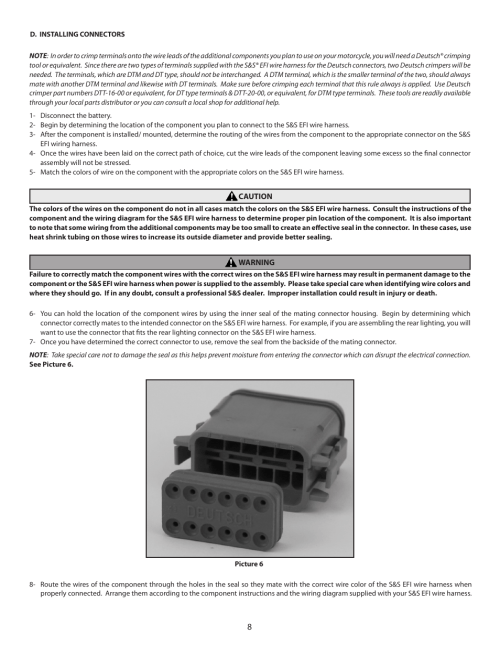 small resolution of s s cycle efi wire harness for custom frame applications using s s fuel injected engines and delphi style modules user manual page 8 16