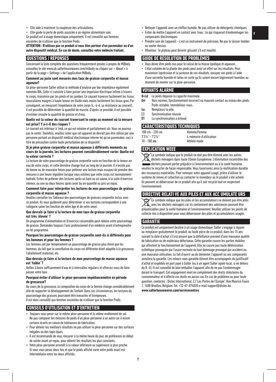 Questions / réponses, Conseils d'utilisation et d