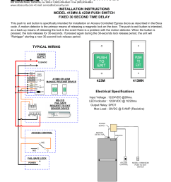 security door controls typical wiring electrical specifications sdc 420 series push switch user manual page 4 7 [ 954 x 1235 Pixel ]