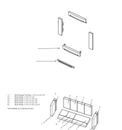 parts list cast faceplate firebrick regency alterra ci1250 small wood insert user manual page 30 32 [ 954 x 1235 Pixel ]
