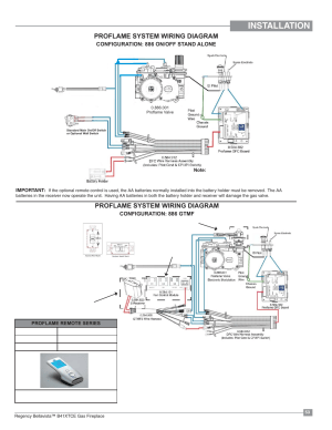 Installation, Proflame system wiring diagram | Regency