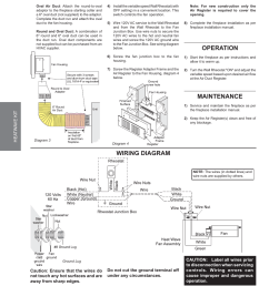fireplace fan wiring diagram wiring diagramtrouble shooting1997 current wire diagram heatwave kit not epa approved [ 954 x 1235 Pixel ]